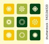 vector flat icons set   sun     Shutterstock .eps vector #542136520