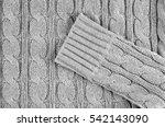 grey knitted textured... | Shutterstock . vector #542143090