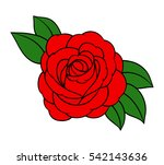 flowers roses  red buds and... | Shutterstock .eps vector #542143636
