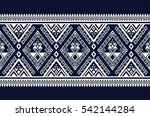 geometric ethnic pattern... | Shutterstock .eps vector #542144284