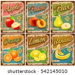 fruit vintage banner | Shutterstock .eps vector #542145010