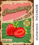 strawberry vintage banner | Shutterstock .eps vector #542146348