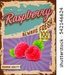 raspberry vintage banner | Shutterstock .eps vector #542146624