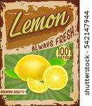lemon vintage banner | Shutterstock .eps vector #542147944