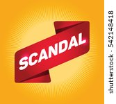 scandal arrow tag sign. | Shutterstock .eps vector #542148418