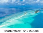 aerial view on maldives island  ... | Shutterstock . vector #542150008