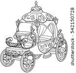 cinderella fairy tale pumpkin... | Shutterstock .eps vector #542150728