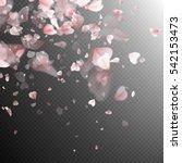 pink petals background. eps 10... | Shutterstock .eps vector #542153473