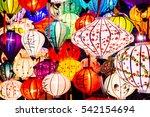 colorful lanterns spread light... | Shutterstock . vector #542154694