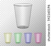 transparent plastic cup set.... | Shutterstock .eps vector #542160196