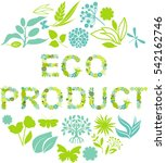 eco product label | Shutterstock .eps vector #542162746