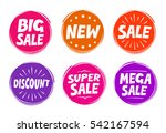 collection symbols such as sale ... | Shutterstock .eps vector #542167594