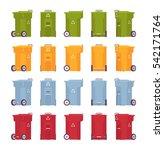 set of trash bins on wheels in... | Shutterstock .eps vector #542171764