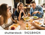attractive group of young...   Shutterstock . vector #542184424
