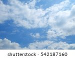 blue sky and cloud background. | Shutterstock . vector #542187160