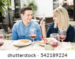 good looking young couple... | Shutterstock . vector #542189224