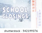 text school closings and... | Shutterstock . vector #542199376