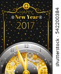 new year 2017 merry christmas... | Shutterstock .eps vector #542200384