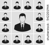 vector business man icons set...