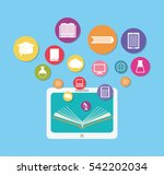 elearning online education icon ... | Shutterstock .eps vector #542202034