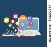 elearning online education icon ... | Shutterstock .eps vector #542202559
