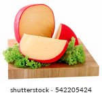 Wheel Of Gouda Cheese With A...