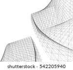 abstract architecture  | Shutterstock .eps vector #542205940