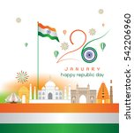 india 26th january vector ... | Shutterstock .eps vector #542206960