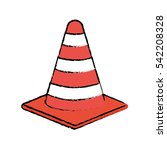 isolated construction cone icon ... | Shutterstock .eps vector #542208328