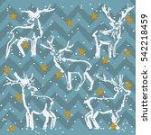 christmas deer. a set of...   Shutterstock .eps vector #542218459