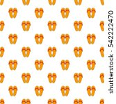 flips flops pattern. cartoon... | Shutterstock .eps vector #542222470