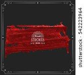 grunge hand   painted brush... | Shutterstock .eps vector #542223964