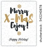 christmas greeting card with... | Shutterstock .eps vector #542240878