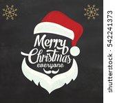 christmas background design icon | Shutterstock .eps vector #542241373