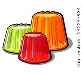 a set of brightly colored... | Shutterstock .eps vector #542247934