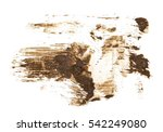 Small photo of drops of mud sprayed isolated on white background, with clipping path