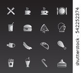 food icons  | Shutterstock .eps vector #542252374