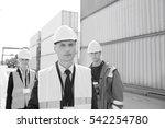 team of confident workers in... | Shutterstock . vector #542254780