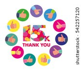 vector template 15k thanks... | Shutterstock .eps vector #542257120