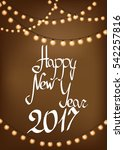 happy new year 2017  greeting... | Shutterstock .eps vector #542257816