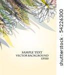 vector floral background | Shutterstock .eps vector #54226300
