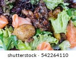 delicious salad with salmon ... | Shutterstock . vector #542264110