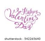 happy valentine's day. vector...   Shutterstock .eps vector #542265640