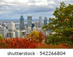 montreal skyline in fall  canada | Shutterstock . vector #542266804
