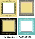 set of openwork frames | Shutterstock .eps vector #542267578