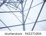 high voltage electric tower... | Shutterstock . vector #542271004