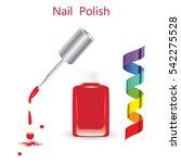 nail polish glass bottle brush... | Shutterstock .eps vector #542275528