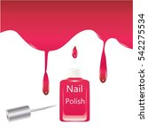 nail polish glass bottle brush... | Shutterstock .eps vector #542275534
