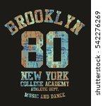 new  york city graphic design... | Shutterstock .eps vector #542276269