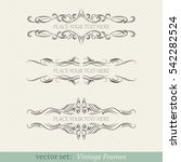 vector set of vintage frames | Shutterstock .eps vector #542282524